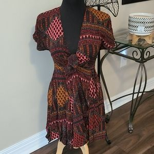 Super Cute full wrap dress with tie front 6